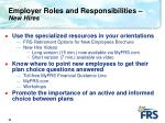 employer roles and responsibilities new hires