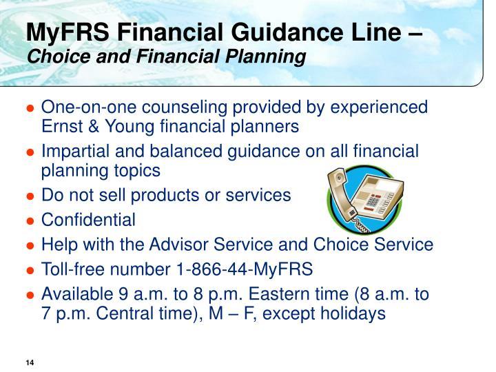 MyFRS Financial Guidance Line –