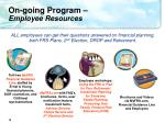 on going program employee resources
