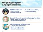 on going program employer resources