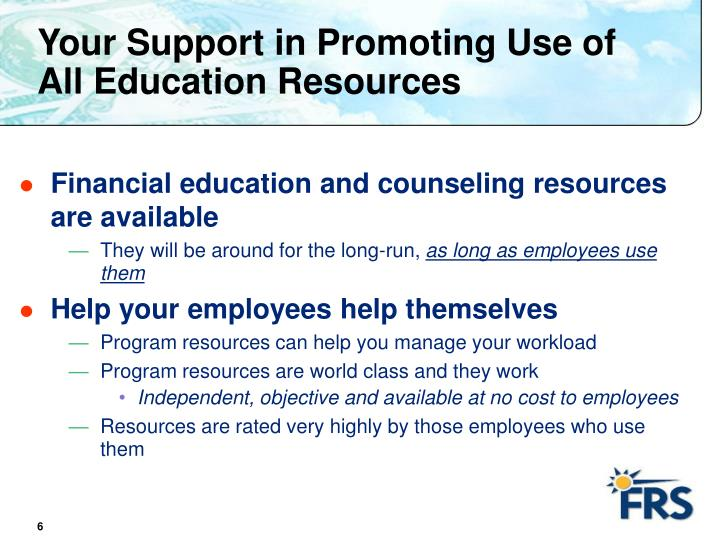 Your Support in Promoting Use of