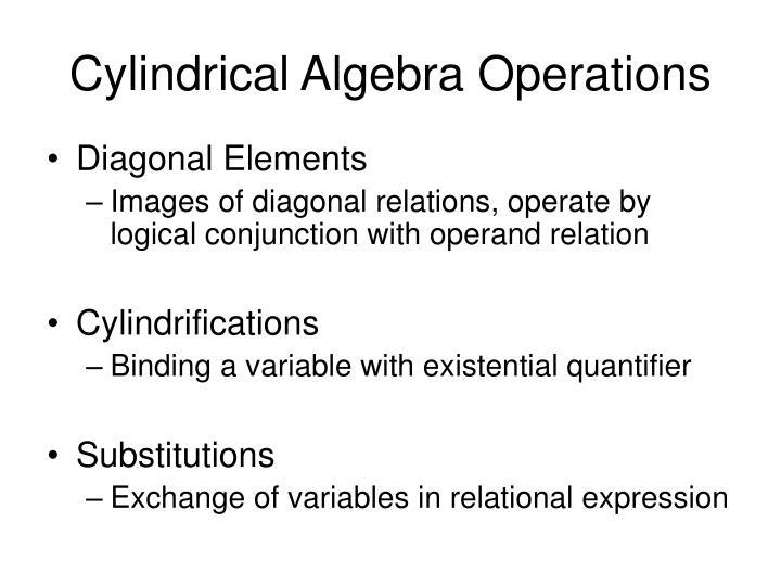 Cylindrical Algebra Operations
