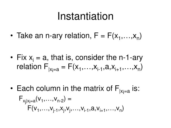 Instantiation