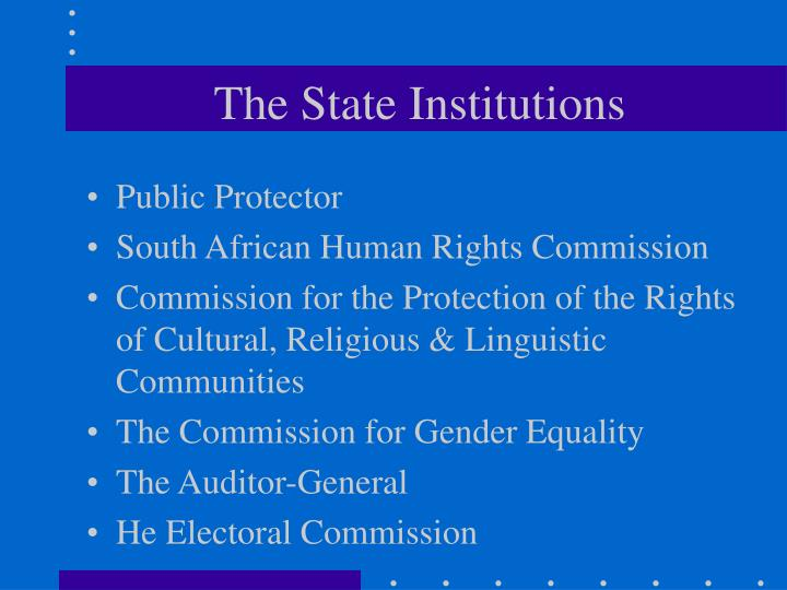 The State Institutions