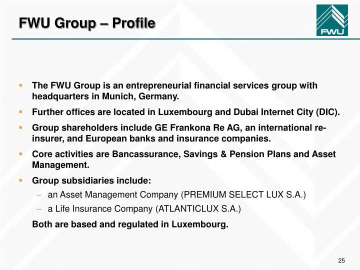 FWU Group – Profile