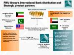 fwu group s international bank distribution and strategic product partners