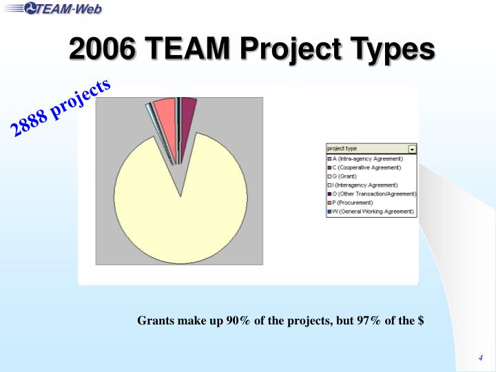 2006 TEAM Project Types