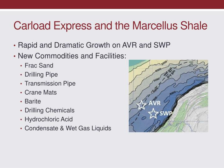 Carload Express and the Marcellus Shale