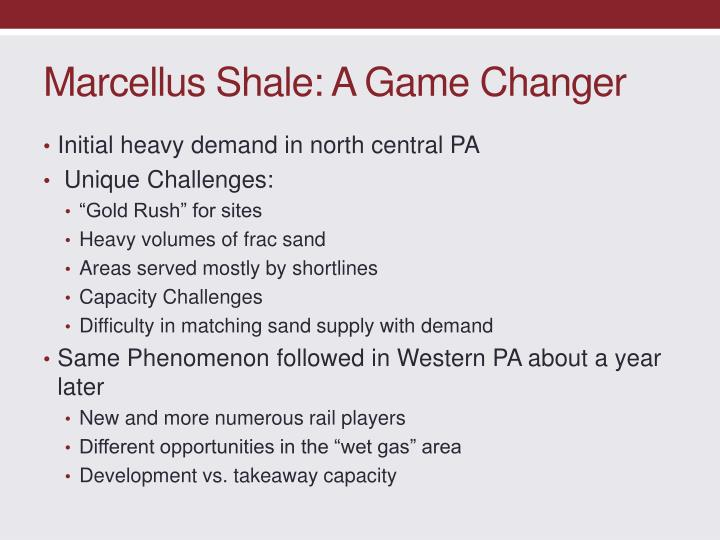 Marcellus Shale: A Game Changer