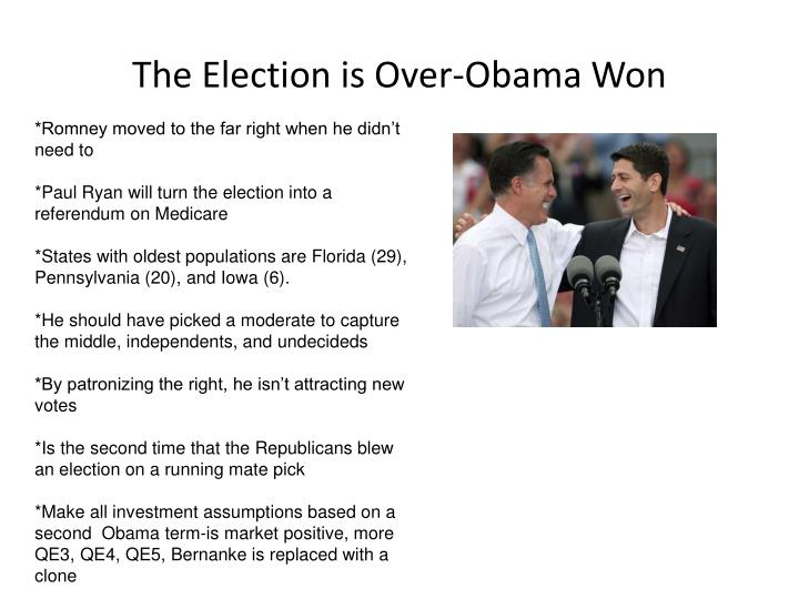 The Election is Over-Obama Won