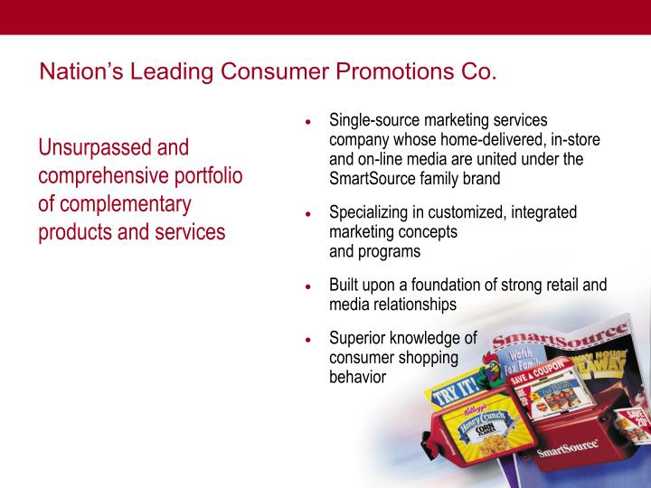 Nation's Leading Consumer Promotions Co.