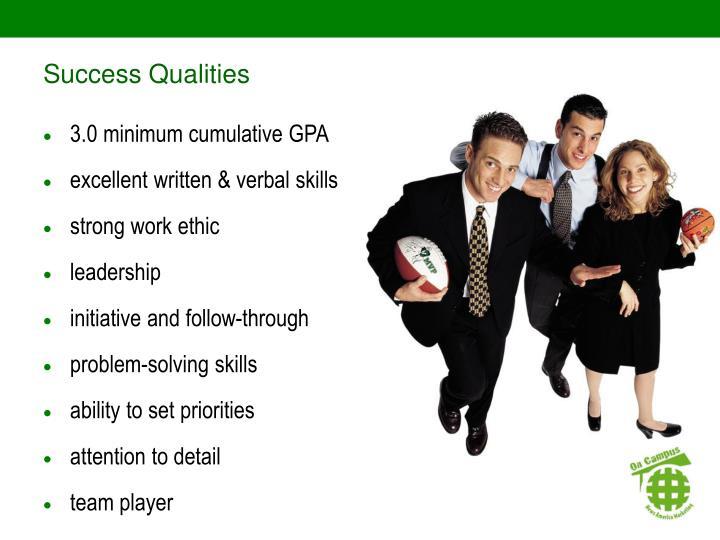 Success Qualities