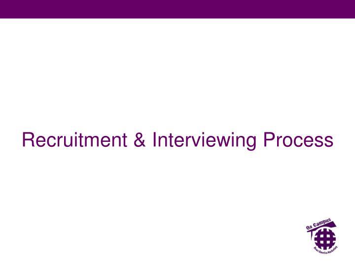 Recruitment & Interviewing Process