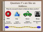 quantum s are like an address