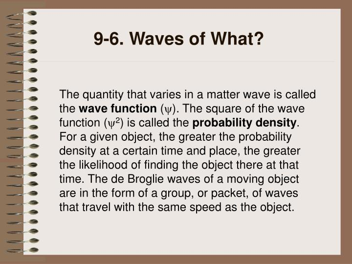 9-6. Waves of What?
