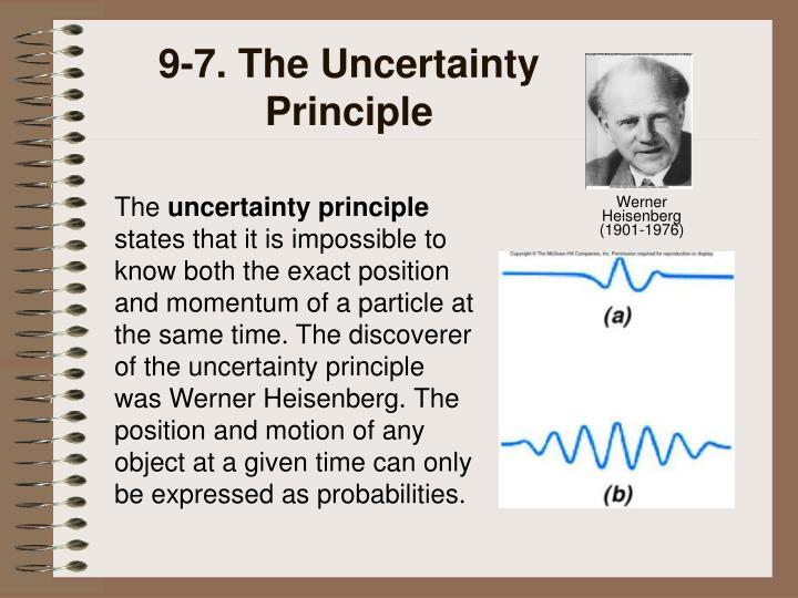 9-7. The Uncertainty Principle