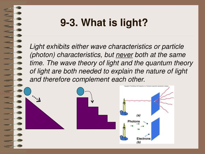 9-3. What is light?