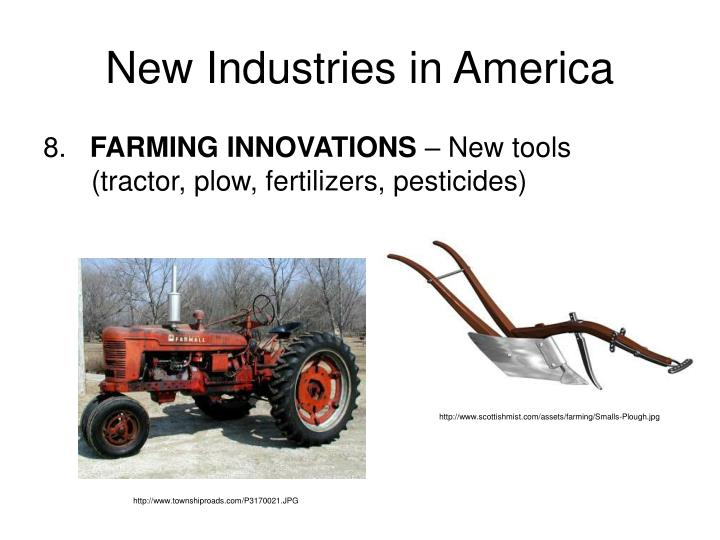 New Industries in America