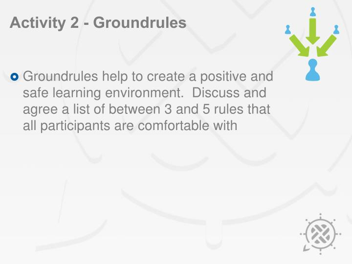 Activity 2 groundrules