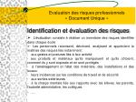 evaluation des risques professionnels document unique6