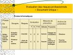 evaluation des risques professionnels document unique9