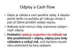 odpisy a cash flow