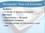 monopolies real life examples