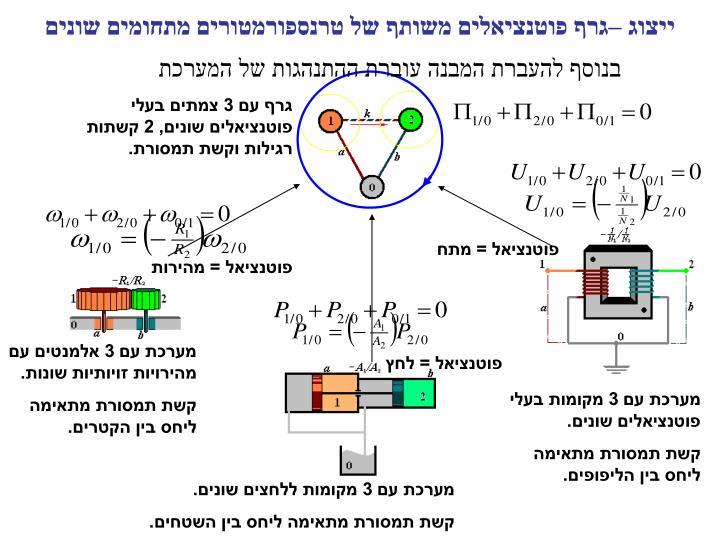 ייצוג –גרף פוטנציאלים משותף של טרנספורמטורים מתחומים שונים