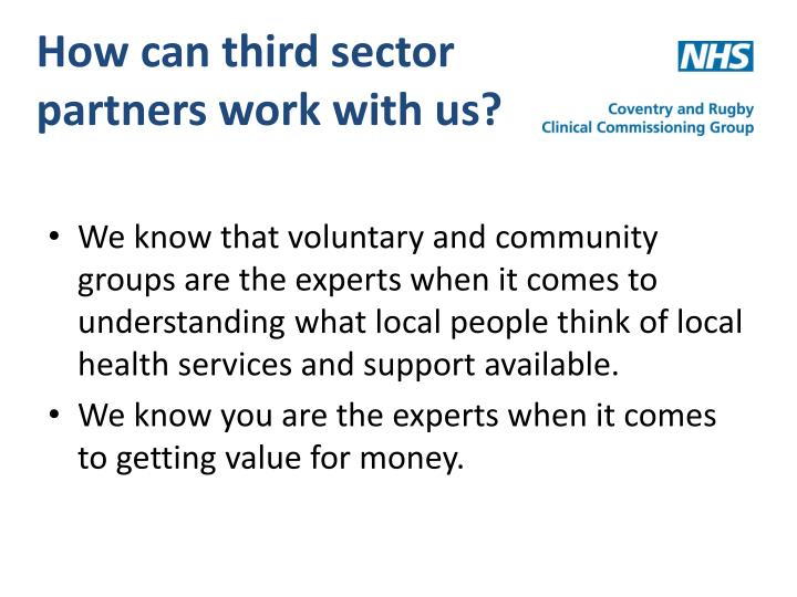 How can third sector