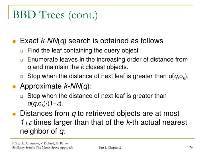 BBD Trees (cont.)