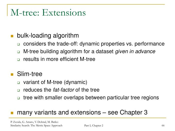 M-tree: Extensions