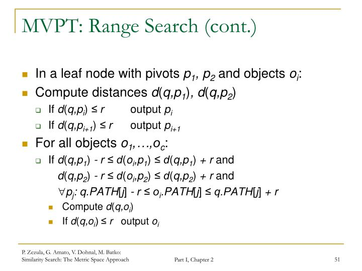 MVPT: Range Search (cont.)