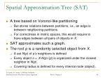 spatial approximation tree sat