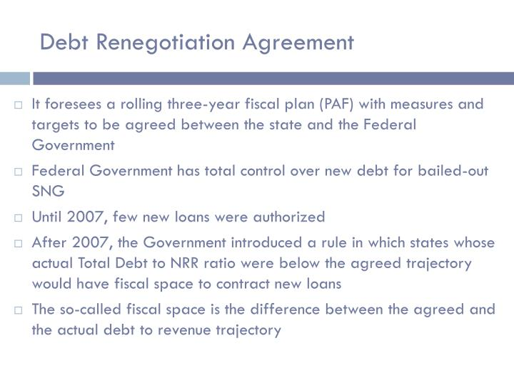 Debt Renegotiation Agreement