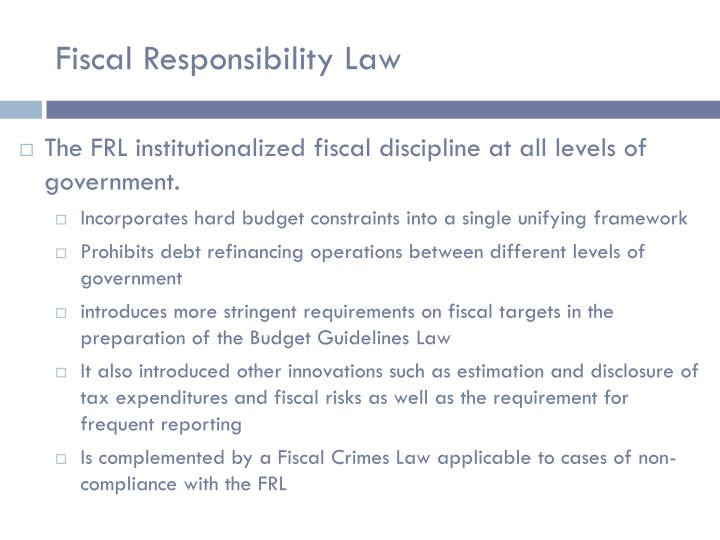 Fiscal Responsibility Law