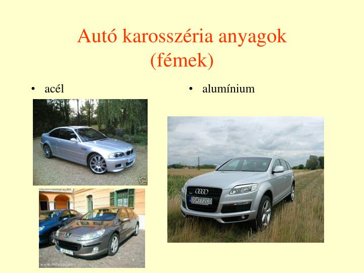 Autó karosszéria anyagok