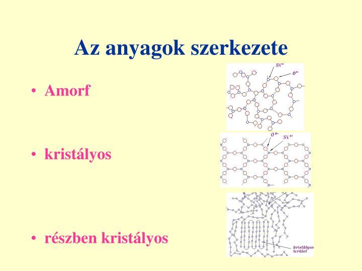 Az anyagok szerkezete