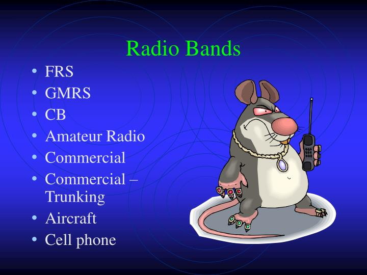Radio bands