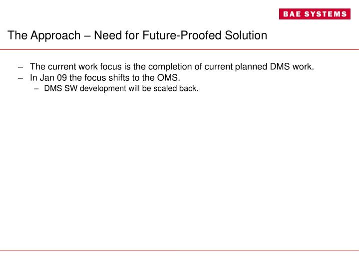 The Approach – Need for Future-Proofed Solution
