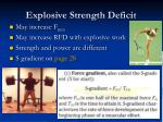 explosive strength deficit
