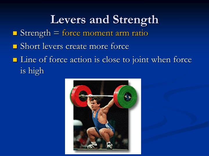 Levers and Strength