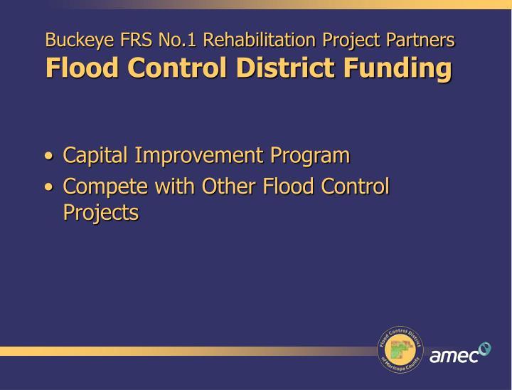 Buckeye FRS No.1 Rehabilitation Project Partners