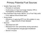 primary potential fuel sources