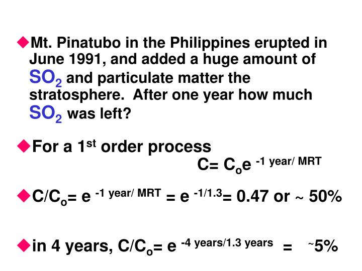Mt. Pinatubo in the Philippines erupted in June 1991, and added a huge amount of