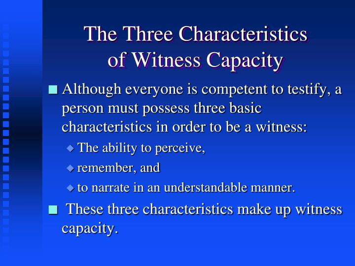 The Three Characteristics