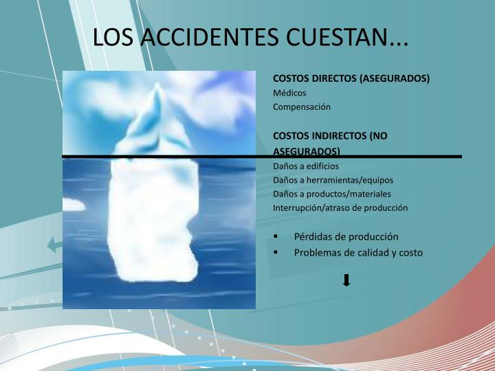 LOS ACCIDENTES CUESTAN...