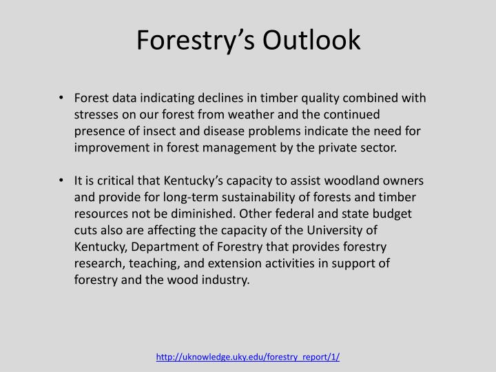 Forestry's Outlook