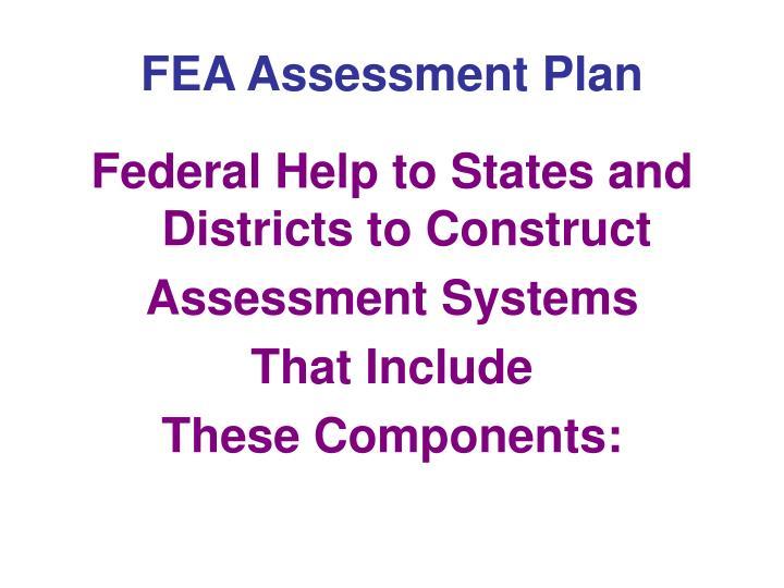 FEA Assessment Plan