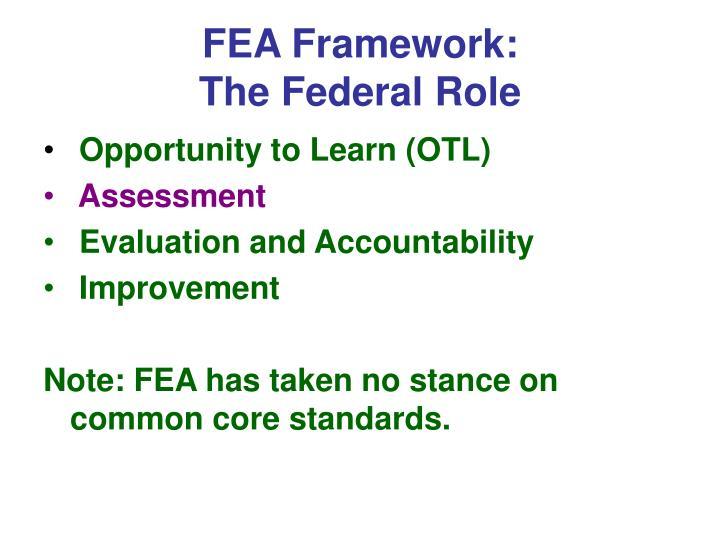 FEA Framework: