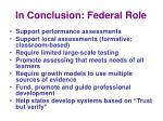 in conclusion federal role